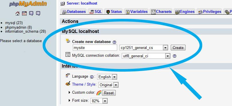 Пример создания сайта на mysql wordpress плагин создание карты сайта